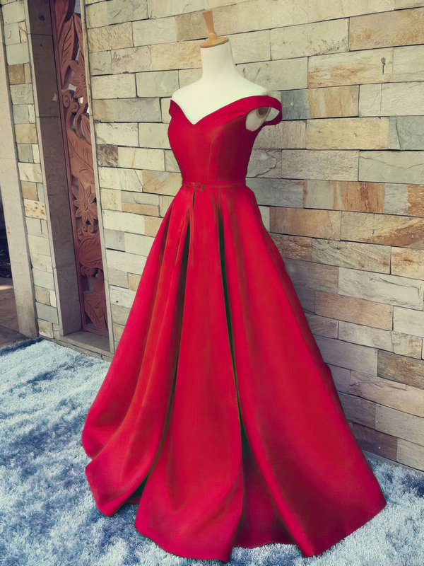 Elegant Ball Gown Satin Designer Long Formal Dresses