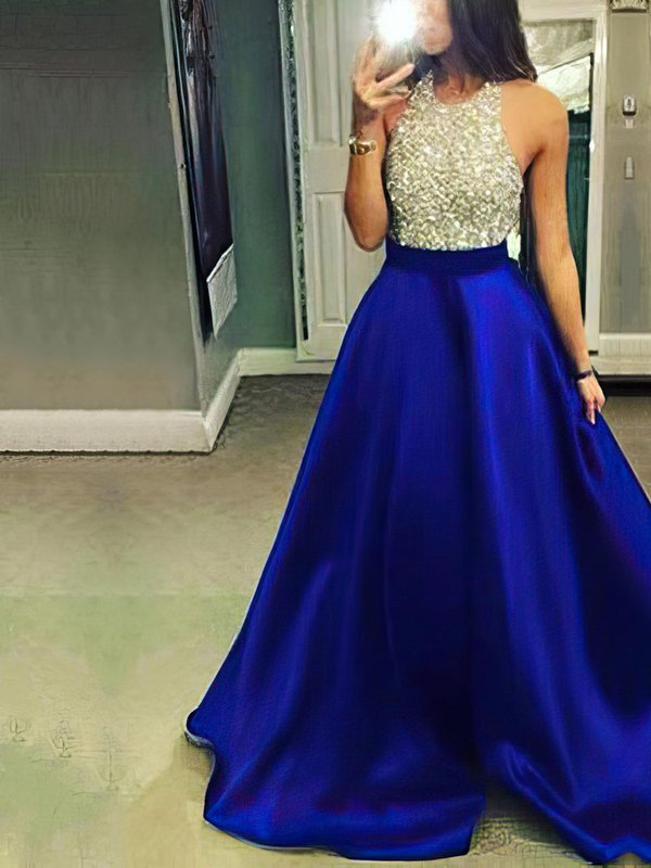Halter Designer Long Dresses for Prom with Pockets