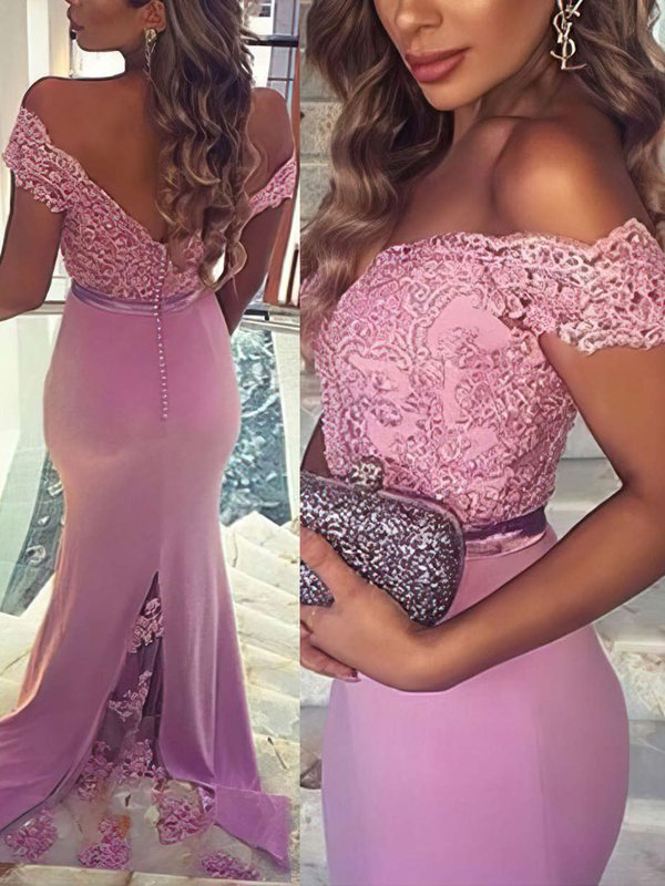 Open Back Mermaid Jersey Good Long Prom Dress