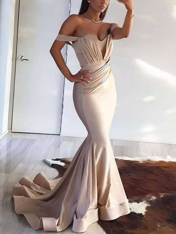 Elegant Mermaid Jersey Designer Long Prom Dress