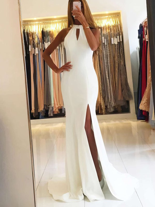 Mermaid Open Back with Slit Long Evening Dresses