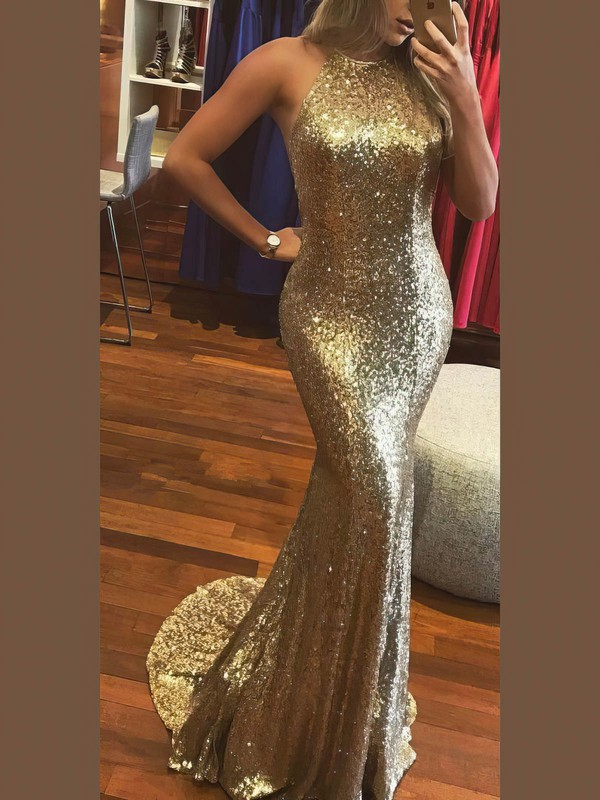 Sexy Open Back Champagne Latest Long Formal Dress